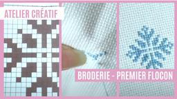 Atelier créatif : Broderie - Premier flocon | Réseau des médiathèques de Massy. Collectivité éditrice