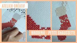 Atelier créatif : Broderie - Petite chaussette | Réseau des médiathèques de Massy. Collectivité éditrice
