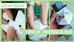 Atelier créatif : Paper toy - Bonhomme de neige | Réseau des médiathèques de Massy. Collectivité éditrice