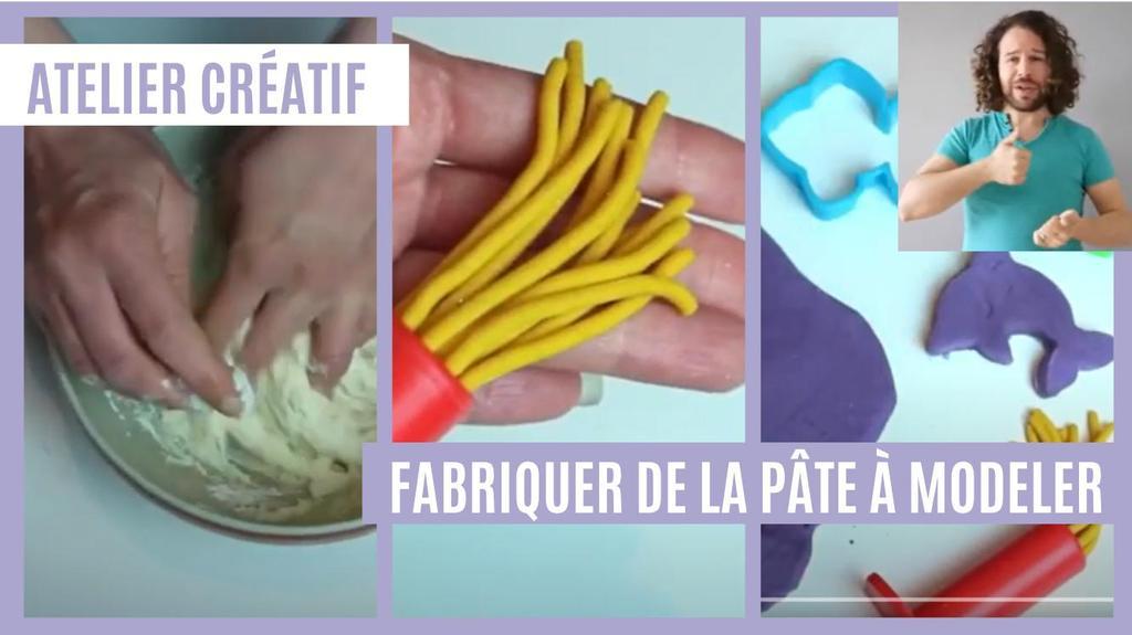 Atelier créatif : Fabriquer de la pâte à modeler (avec LSF) | Réseau des médiathèques de Massy. Collectivité éditrice